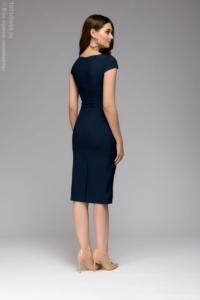 Купить Синее платье-футляр с короткими рукавами в магазине женской одежды в Воронеже
