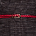 Плетеный ремень красного цвета bt00019rd