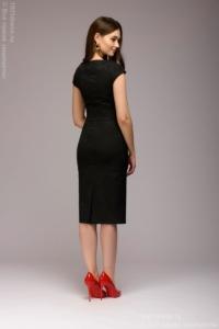 Заказать Платье-футляр черного цвета из жаккарда с бесплатной доставкой по России