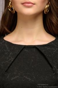 Купить Платье-футляр черного цвета из жаккарда в магазине женской одежды в Воронеже
