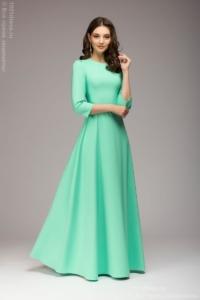Вечернее платье в пол мятного цвета купить в Воронеже