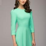 Вечернее платье в пол мятного цвета dm00206mn-2