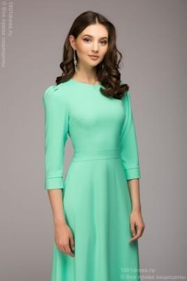 Заказать Вечернее платье в пол мятного цвета с бесплатной доставкой по России