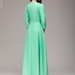 Вечернее платье в пол мятного цвета dm00206mn-3