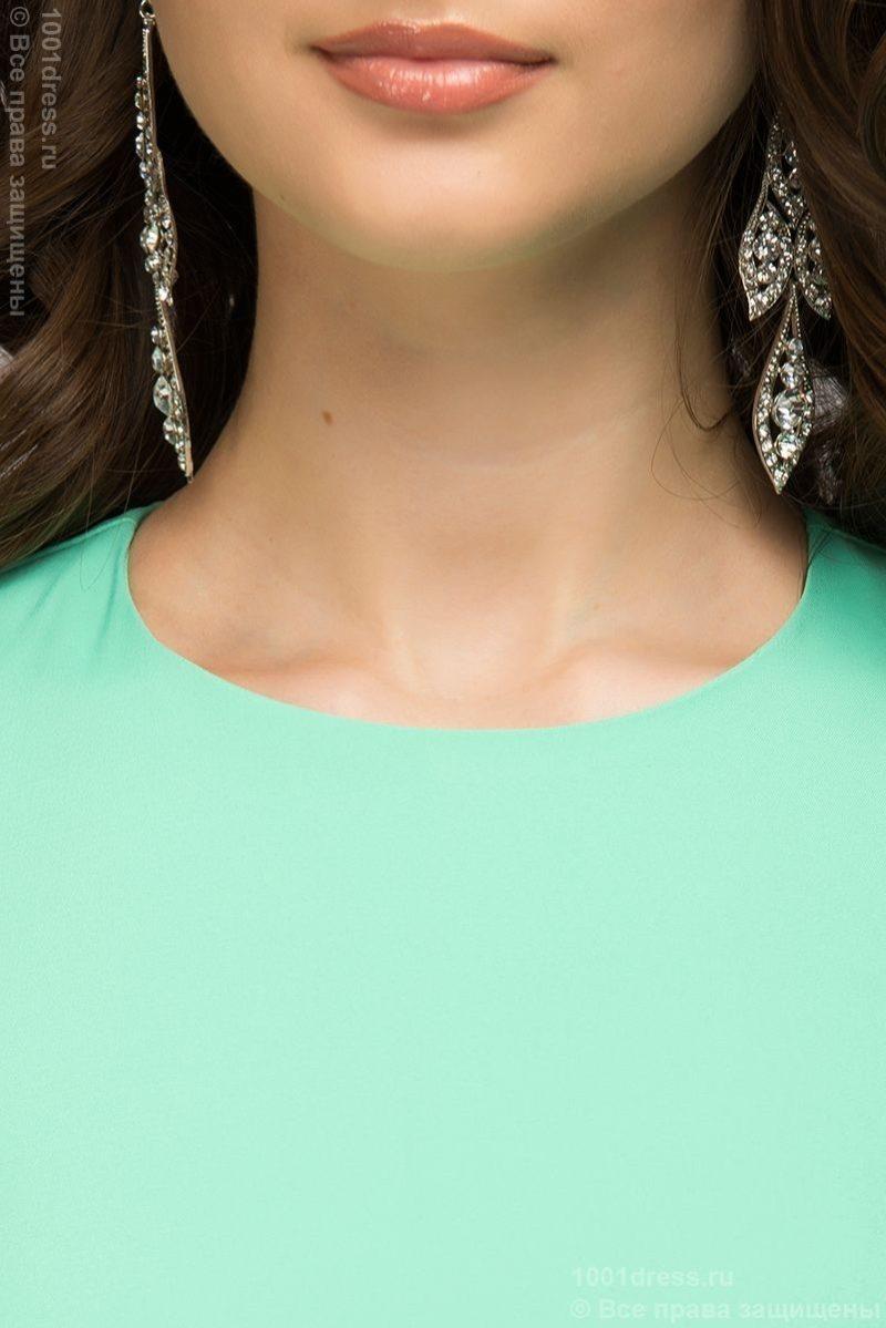 Купить Вечернее платье в пол мятного цвета в интернет-магазине