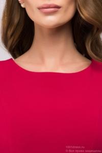 Купить Платье миди малинового цвета без рукавов с воланом по низу в магазине женской одежды в Воронеже