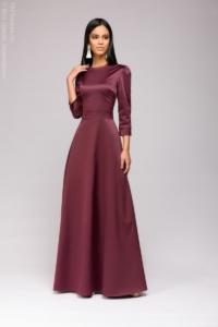 Вечернее платье в пол сливового цвета купить в Воронеже