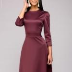 Вечернее платье в пол сливового цвета dm00206pm-2