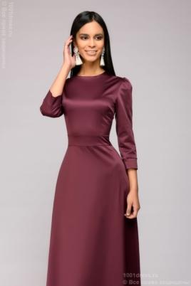 Вечернее платье в пол сливового цвета купить в интернет-магазине