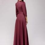 Вечернее платье в пол сливового цвета dm00206pm-3