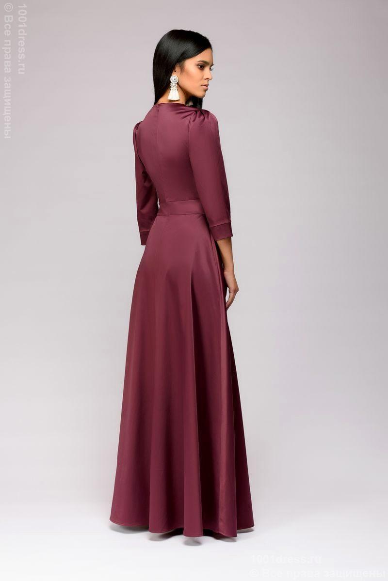 Заказать Вечернее платье в пол сливового цвета с бесплатной доставкой по России