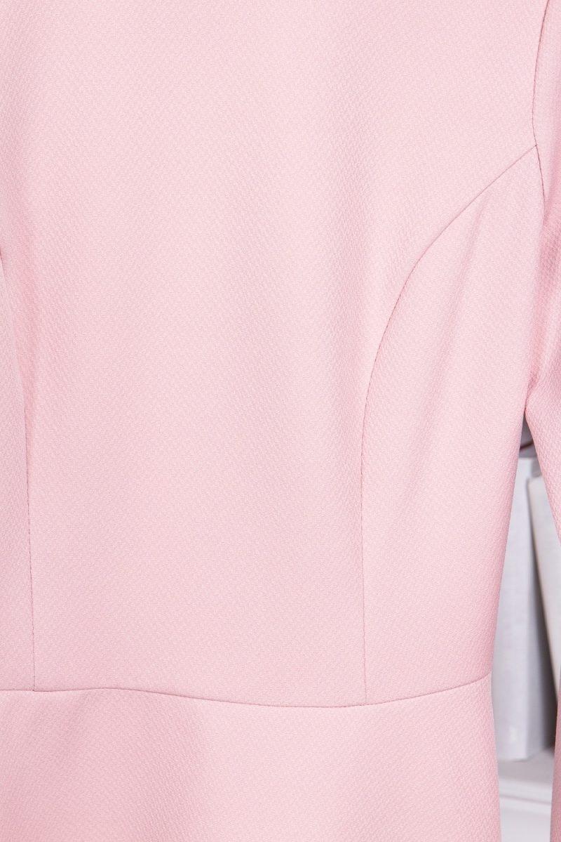 Купить Нежно-розовое платье с расклешенной юбкой и длинными рукавами в магазине женской одежды в Воронеже