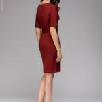 Платье мини бордового цвета с рукавом «летучая мышь» dm00211we-3