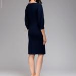 Темно-синее платье с пышными рукавами dm00436bl-3