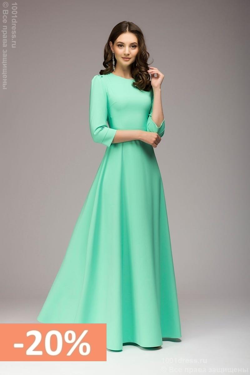 ccfbe8b29b3 ... Вечернее платье в пол мятного цвета. Sale