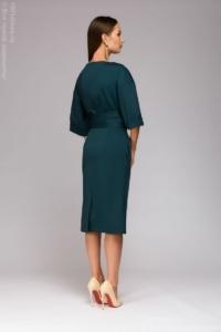 Заказать Зеленое платье миди с широким поясом с бесплатной доставкой по России