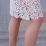 Молочное платье-футляр с корсетным верхом и кружевом zd00336wh-3