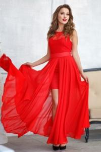 Платье-трансформер 2 в 1 красного цвета купить в Воронеже