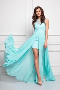 Платье-трансформер 2 в 1 мятного цвета купить в Воронеже