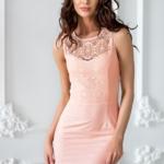 Платье-трансформер 2 в 1 персикового цвета sz00030pc-2