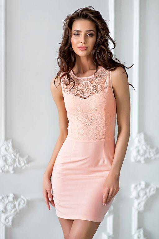 Платье-трансформер 2 в 1 персикового цвета купить в интернет-магазине