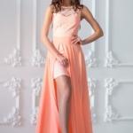 Платье-трансформер 2 в 1 персикового цвета sz00030pc-3