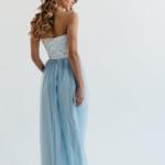 Вечернее платье-корсет голубого цвета с кружевным верхом и фатиновой юбкой zd00314lb-3