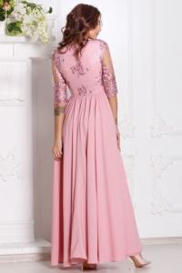 Заказать Вечернее платье цвета пыльная роза с пышной юбкой и кружевным верхом с бесплатной доставкой по России