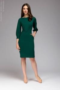 Зеленое платье с пышными рукавами купить в интернет-магазине