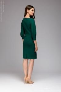Заказать Зеленое платье с пышными рукавами с бесплатной доставкой по России