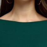 Зеленое платье с пышными рукавами dm00436em-4