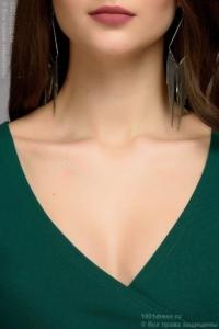 Купить Зеленое платье с вырезом в магазине женской одежды в Воронеже