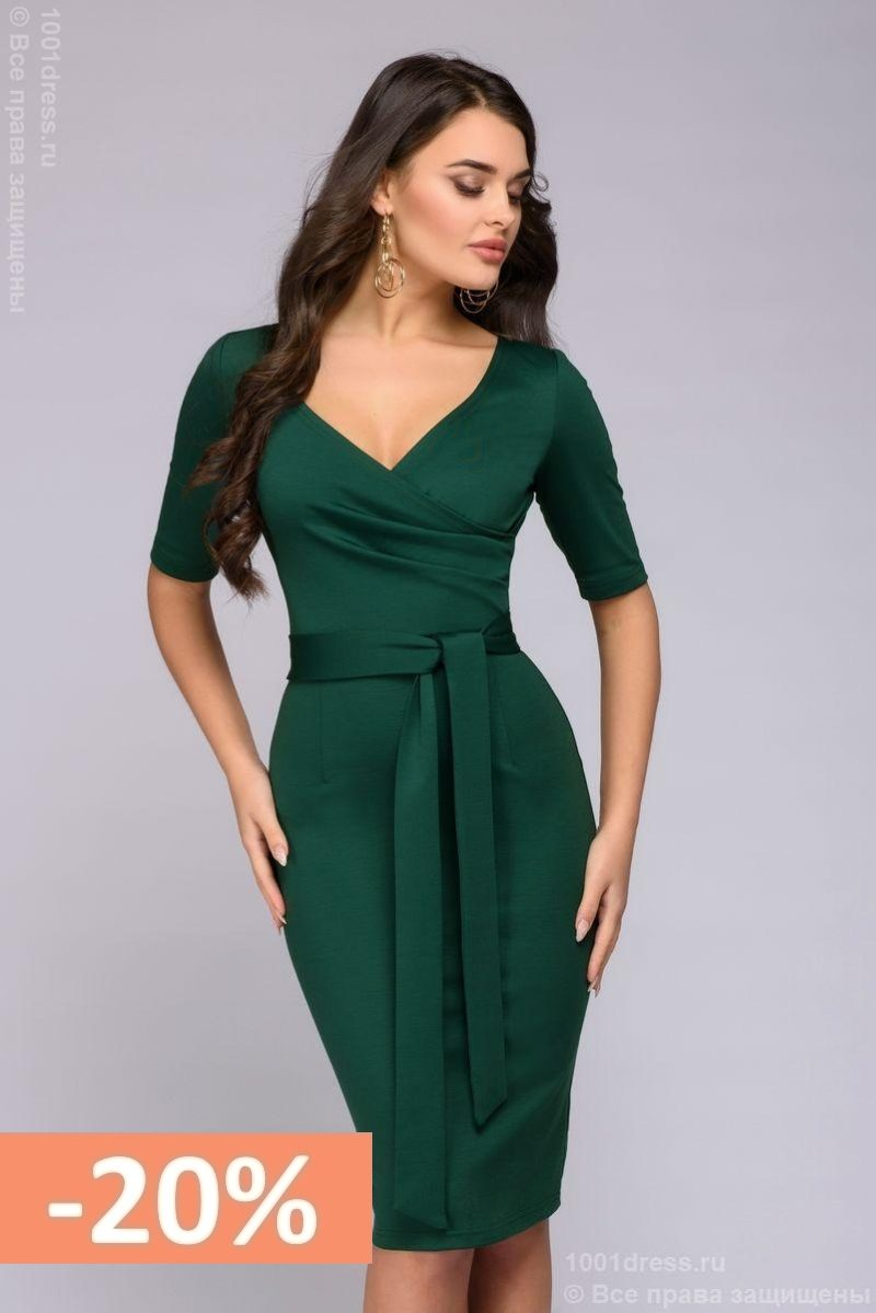 f440c851b6a Sale. Зеленое платье с вырезом купить ...