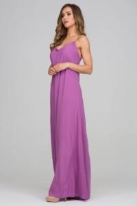 Длинный сарафан пурпурного цвета с оригинальной спинкой заказать с бесплатной доставкой