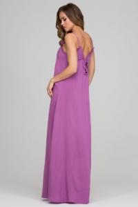 Заказать Длинный сарафан пурпурного цвета с оригинальной спинкой с интернет-магазине