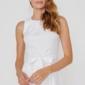 Белое платье из жаккарда с асимметричной юбкой и вырезом на спине заказать с примеркой