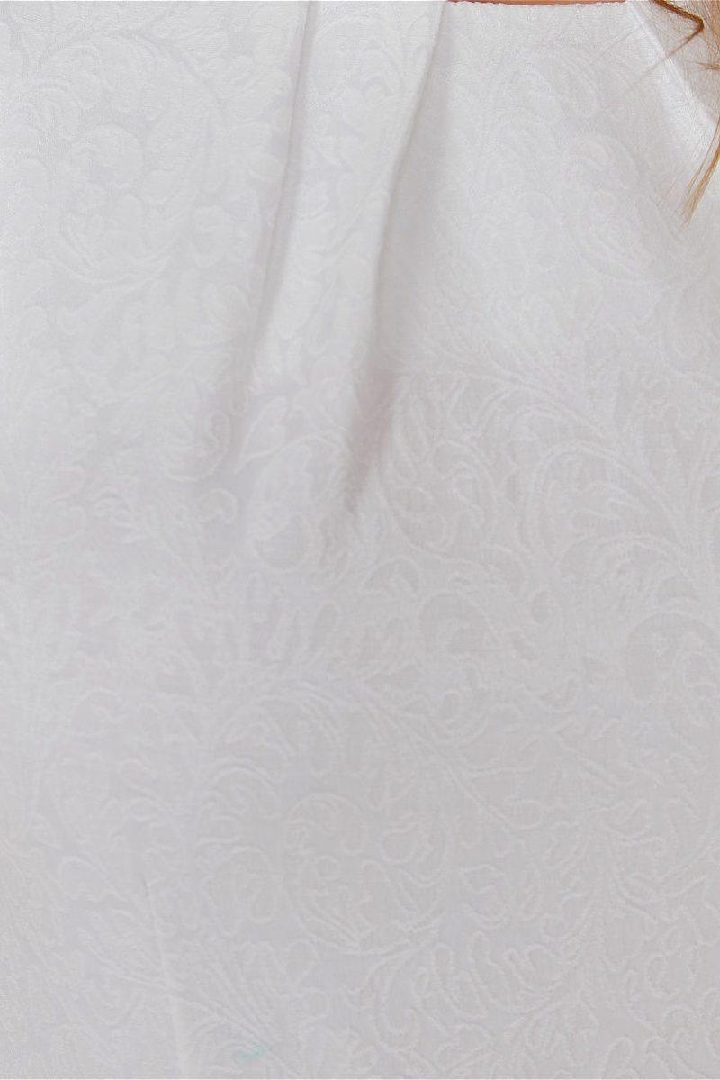 Заказать Белое платье из жаккарда с асимметричной юбкой и вырезом на спине с бесплатной доставкой