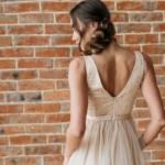 Бежевое вечернее платье с пышной юбкой и отделкой бусинами zd00451bg=4
