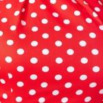 Красное платье-футляр из хлопка в горошек vv51624rd-5