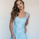 Кружевное платье миди голубого цвета на бретелях zd00083lb-2