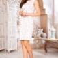 Светло-розовое платье-футляр с цветочным принтом и защипами на талии заказать с примеркой