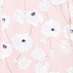 Светло-розовое платье-футляр с цветочным принтом и защипами на талии vv52059pk-4