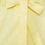 Светло-желтый сарафан длины миди с поясом и пуговицами vv51568yl-4